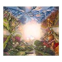 木製パズル大人用ジグソー500/520個、自然風景木製ジグソー認知症エクササイズチャレンジゲームアートポスター装飾壁画クリエイティブギフト,46cmx46cm,003