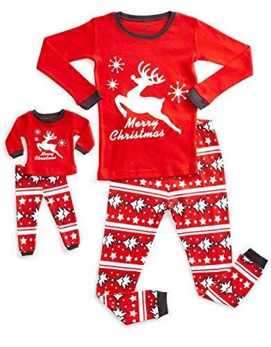 DinoDee Matching Doll Reindeer Pajama 6 Years