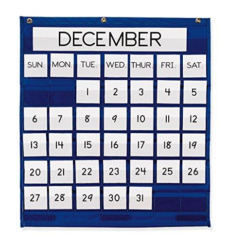 Pacon Pocket Chart, Monthly Calendar, Blue, 25