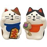デコレ Decole ペア招き猫 白猫 1個サイズ 25 22 h36mm concombre ZCB-92704 2個入