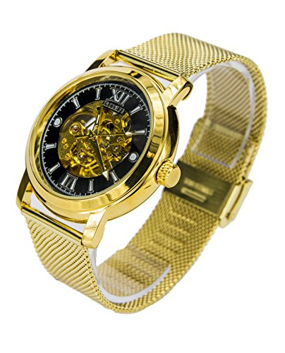 Reloj Automático Goer Dorado/Negro 1024