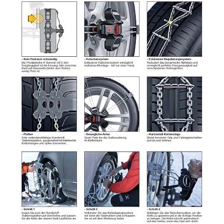 Thule Schneeketten K Summit Für Die Reifengröße 285 30 R21 Die Exklusive Und Leicht Zu Montierende Schneekette Für Personenkraftwagen Auto