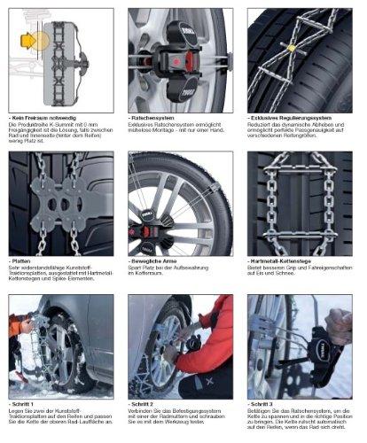 Thule chaînes à neige k-summit xL pour la taille des pneus 295/30–r22 la boule facile à installer et neige pour les véhicules tout-terrain et vLT jusqu'à 2000 kg à vide