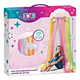 Three Cheers for Girls - Rainbow Bright Canopy - Rainbow Bed Canopy for Girls - Hanging Net Canopy for Beds, Chairs & Reading Corners - 8' Height & 24' Diameter Hoop - for Ages 6+