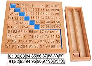 SGerste 1-100 Wooden Montessori Mathematics Material Consecutive Numbers Sorting Toy