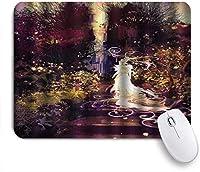 VAMIX マウスパッド 個性的 おしゃれ 柔軟 かわいい ゴム製裏面 ゲーミングマウスパッド PC ノートパソコン オフィス用 デスクマット 滑り止め 耐久性が良い おもしろいパターン (クールな庭の表現主義のアートワークの階段にエルフレディー図のファンタジーシュールなシルエット)