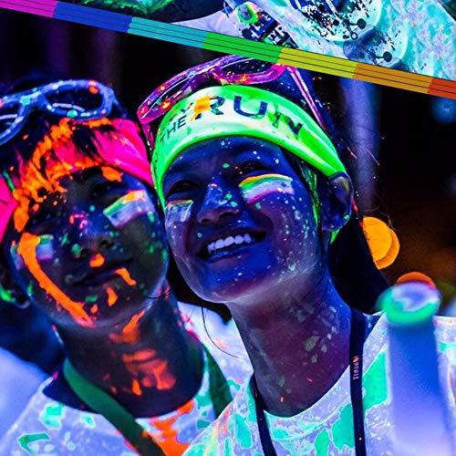 QiKun-Home 13 Colores DIY Top Eco No tóxico Libre de olores Pintura de Graffiti a Prueba de Agua Luminoso Acrílico Resplandor en la Oscuridad Pigmento Paredes de Fiesta Multicolor