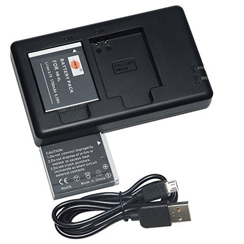 DSTE 2PCS NB-6L(1700mAh/3.7V) Batería Cargador Compatible para Canon PowerShot...