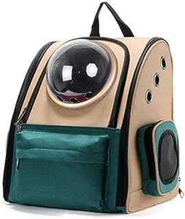 Double Shoulder Pet Cage Portable Pet Travel Bag Good Breathability Comfortable Green Makfacp (Color : Gold)