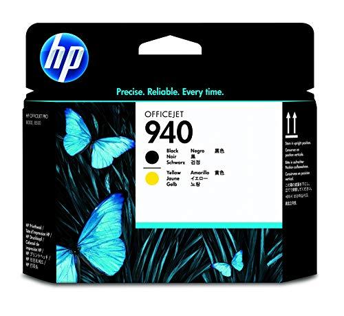 HP 940 C4900A, Negro y Amarillo, Cabezal Original, para impresoras HP OfficeJet Pro 8000, 8500, 8500a A910a, 8500a Plus A910g, 8500a A909 y 8000 Enterprise