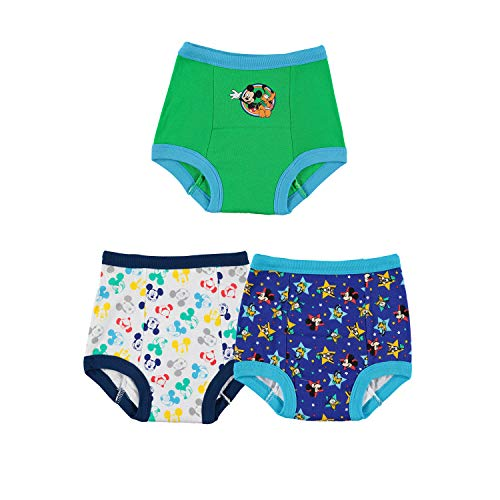 Disney Boys' Toddler Mickey Mouse 3pk Training Pant, (Colors may vary) Assorted, 3T