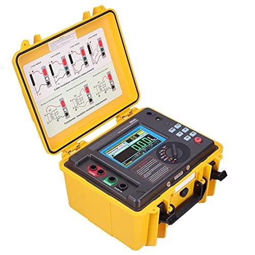 Probador de Resistencia de Aislamiento Digital ETCR3520, Medidor de Megaohmios LCD Portátil de 5KV con Caja de Almacenamiento Impermeable para Motor de Cable(EU Plug)