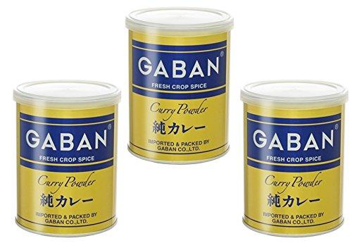 GABAN 純カレーパウダー (缶) 220g×3個