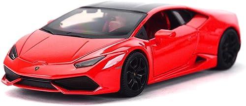 estilo clásico HJCM-modelo de coche Modelo Coche Fundición a presión Modelo Adornos Adornos Adornos Lamborghini Huracan 1 24 Simulación de aleación Modelo de Coche Coche de Juguete ( Color   rojo )  ahorra hasta un 70%