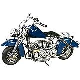 Metallo Decorazione Nostalgic Modello del Motociclo Ornamenti Soggiorno Governo del Vino Scrivania Mobile TV Decorazioni Mestieri Regali di Nozze Attacchi (Color : Blue, Size : 24 * 13cm)