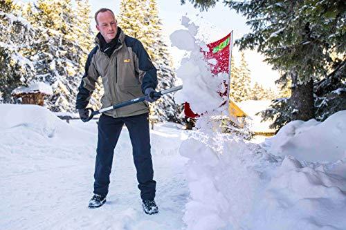 Freund 2030519 Kunststoff-Schneeschieber 53 cm mit Aluminiumkante und Aluminiumstiel 130 cm D-Griff - 3
