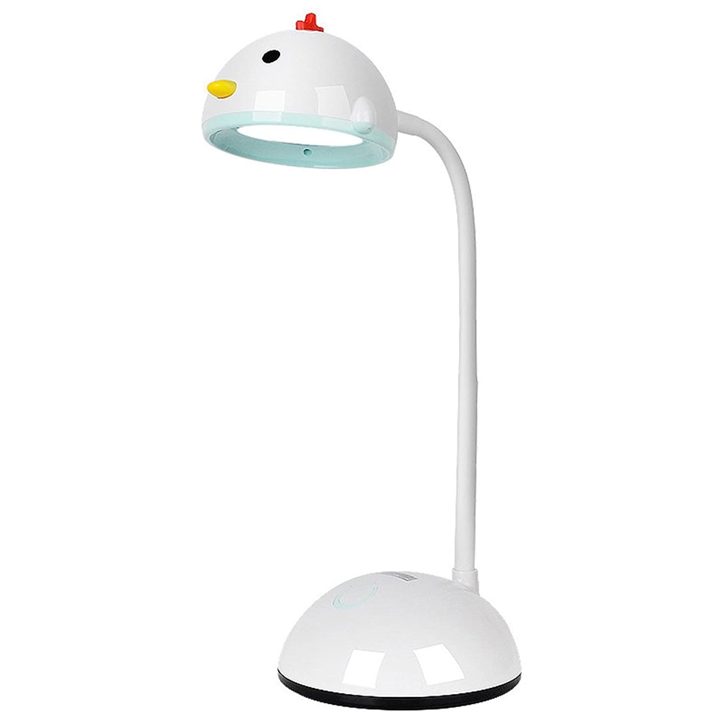 Bright Children LED Desk Lamp 3-Level Dimmable Reading Eye-Care Desk Light ABS Flexible Gooseneck USB Power Lighting System (Color : White)