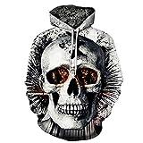 FRAUIT Herren 3D Druck Hoodie Sweatshirt Kapuzenpullover Grafik Langarm Pullover Top Jumper (XXXL, Schwarz4)