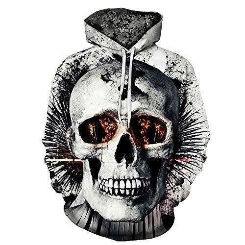 FRAUIT Herren 3D Druck Hoodie Sweatshirt Kapuzenpullover Grafik Langarm Pullover Top Jumper (L, Schwarz4)