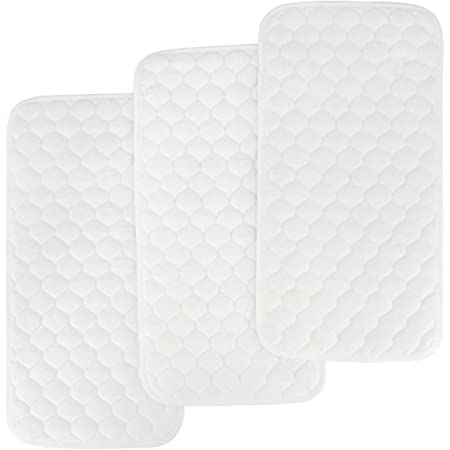 BlueSnail Bamboo Quilted Thicker Waterproof Changing Pad Liners, 3 Count (Snow White)