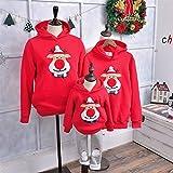 HOUHOU Navidad Familia Pijamas Pijamas Invierno Santa Claus Elk Impresión Casual Suéteres Ugles Mamá y ME Sudaderas Sudaderas Traje suéter (Color : Color10, Size : Dad M(170 175))