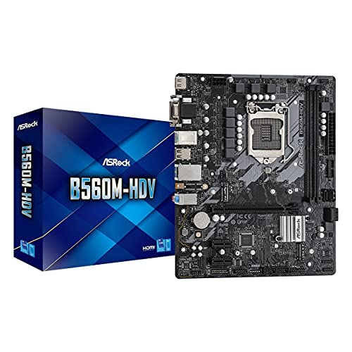 ASRock Intel 第10・11世代CPU(LGA1200)対応 B560 チップセット搭載 MicroATX マザーボード 【国内正規代理店品】 B560M-HDV