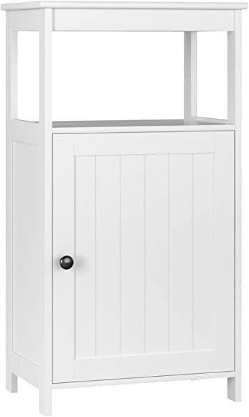 Homfa Bathroom Floor Cabinet Free Standing With Single Door Multifunctional Bathroom Storage Organizer Toiletries