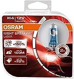 OSRAM NIGHT BREAKER LASER H4, Gen 2, +150% más luz, bombillas H4 para faros delanteros, 64193NL-HCB, 12V, duo box (2 lámparas) [el embalaje puede variar]