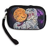 Dinosaur T Rex Mummy Pumpkin Coin Pouch Clutch Purse Wristlet Wallet Phone Card Holder Handbag