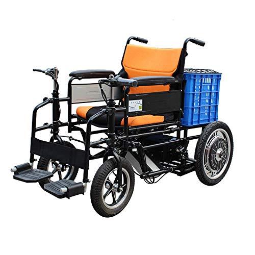 NBVCX Decoración de Muebles Silla de Ruedas eléctrica Plegable para discapacitados Scooter eléctrico de Viaje de 4 Ruedas para Ancianos