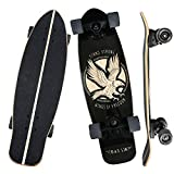 "B&S.LIN 27.5 ""x 8"" Skateboard is a Versatile Skateboard That You can Ride Around and do Stunts with. Complete Assembled Cruiser Board Set.Best Bang for Your Buck (Light)"