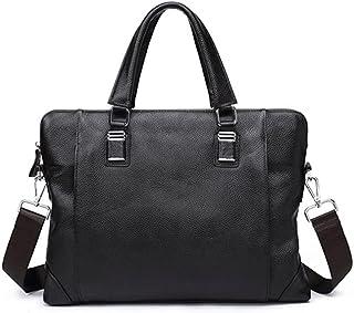Chliuchihjklstb briefcase, Men's Bag Briefcase Handbag Business Laptop Bag Casual Leather Men's Shoulder Messenger Bag