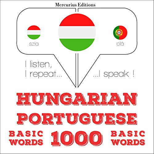 Hungarian – Portuguese. 1000 basic words cover art