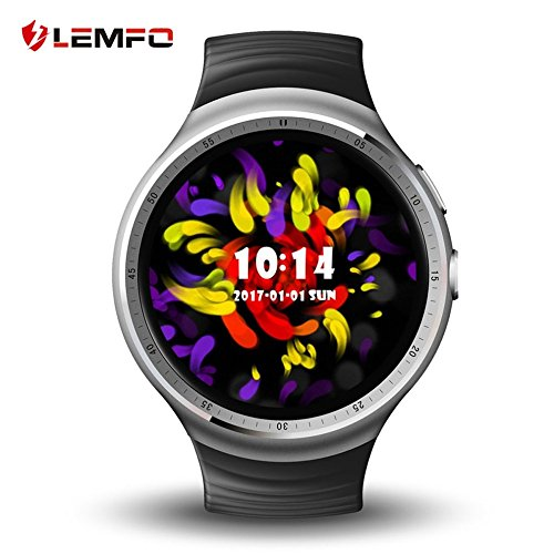 lemfo les1Watch 1.39Inch AMOLED pantalla circular Fashion 16GB ROM 3G GPS WIFI Smart Watch Phone (Fast Shipping)