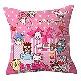 LIYIMING Hello Kitty - Funda de cojín para sofá, cama, silla, decoración del hogar (10,65 x 65 cm)