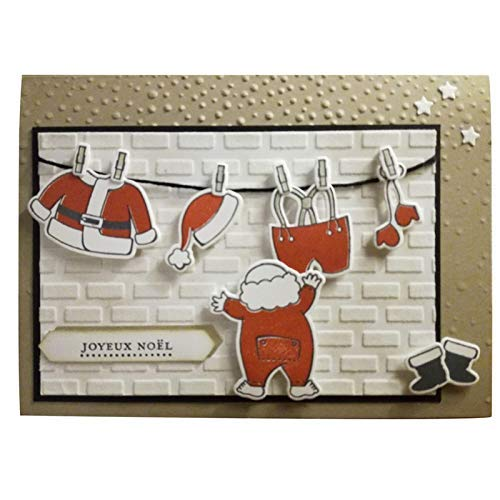 4.8x3.3inch Santa Claus Clear Stamp and Dies Set Die Cuts Metal Cutting Die for Scrapbooking Card Making