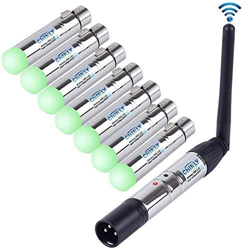 CHINLY 8pcs 2,4 G ISM DMX512 Männlich/Weiblichen XLR Sender/Empfänger für Moving Heads Bühne Licht