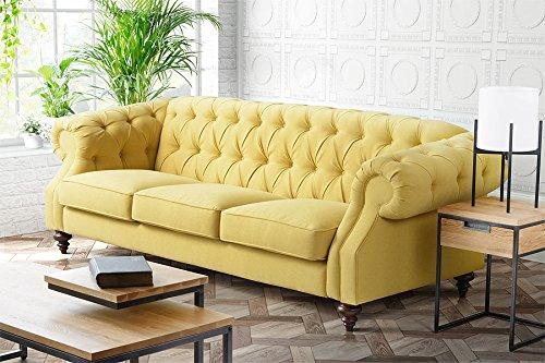 My-Furniture - Sofá Buster Málaga Mustard de 3 plazas