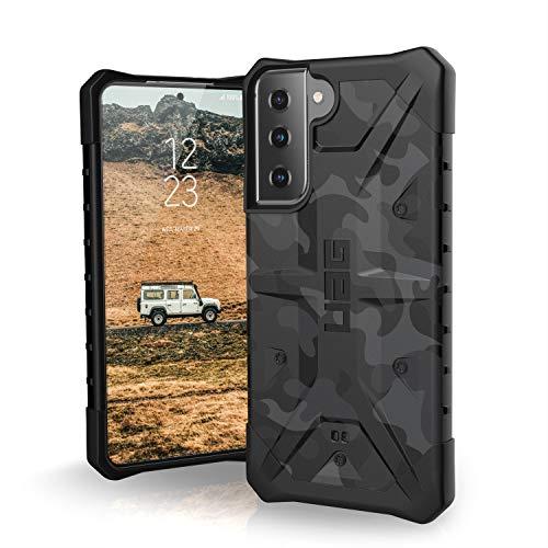 "Urban Armor Gear Pathfinder Hülle Samsung Galaxy S21 5G (6,2"" Zoll) Schutzhülle (Wireless Charging kompatibel, Handyhülle nach Militärstandard, Ultra Slim Bumper) - Midnight camo"