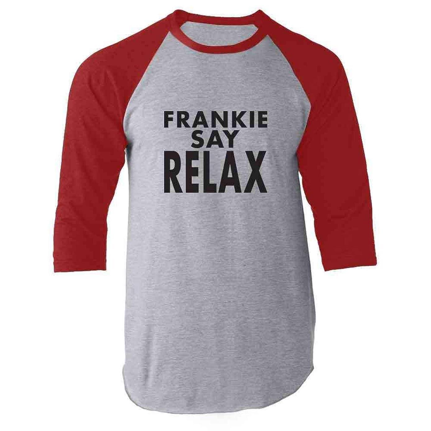 Frankie Say Relax Classic 80s Raglan Baseball Tee Shirt