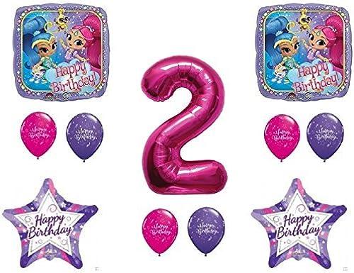 oferta especial SHIMMER AND SHINE 2nd Second HAPPY Birthday Party Balloons Balloons Balloons Decoration Supplies Genie Nick by Qualatex  para proporcionarle una compra en línea agradable