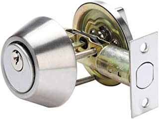 Door Knob Locks,Privacy Interior Doorknob with 3 Key and Deadbolt,Vintage Keyed Entry Door Knobs Lock Set, Security Deadbo...