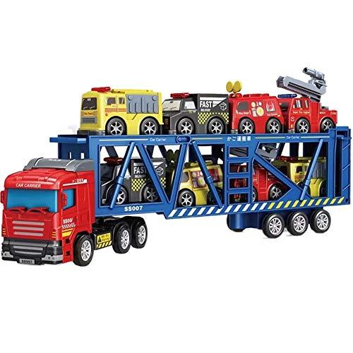 Xolye Transporter Spielzeug Set Turn Kombination Boxed Jungen Spielzeug Auto Geschenk Trägheit Drive Kleine Spielzeugauto Große LKW-LKW-Spielzeug (Color : EIN)