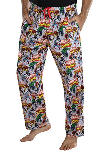 Marvel Comics Mens' Avengers Stance Pajama Pants Loungewear (X-Large)