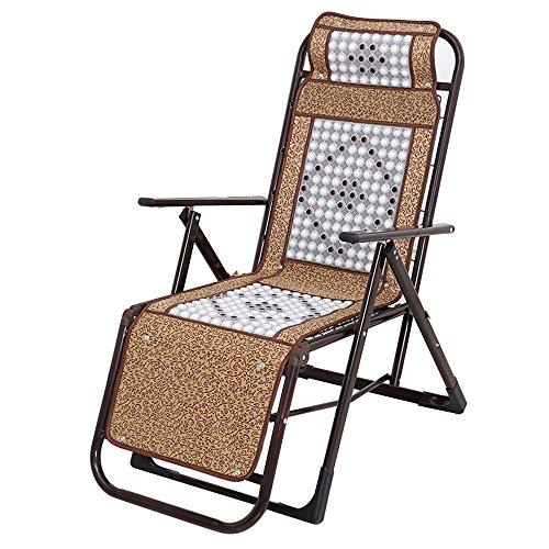 JCOCO Fauteuil inclinable de Massage de Boule de Soie de Glace/Pause de déjeuner Pliant inclinable/Chaise de Sieste de Bureau/Balcon à la Maison Chaise basculante paresseuse/Maison Chaise Port