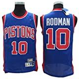 Jersey para Hombre - Dennis Rodman # 10 Detroit Pistons Camiseta Sin Mangas De Baloncesto Fan Versión Retro Camiseta Malla Versión Transpirable,M170~175cm/65~75kg
