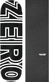 Zero Skateboards Bold Black/White Skateboard Deck - 8