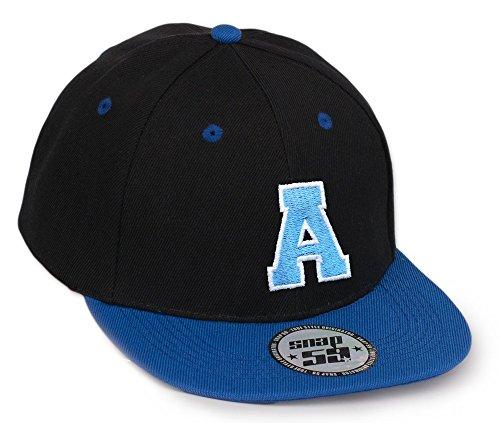 morefaz Bonnet Chapeau Casquette Snapback 59 Baseball Cap Alphabet letters A-Z Snap Back (A)
