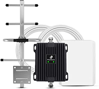 Phonetone Cell Phone Signal Booster for Home and Office Up to 5,000 Sq Ft | Boost 4G LTE Data for Verizon and AT&T | 65dB ...