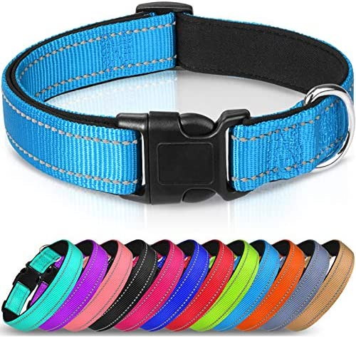 Joytale Reflective Dog Collar Soft Neoprene Padded Breathable Nylon Pet Collar Adjustable for product image